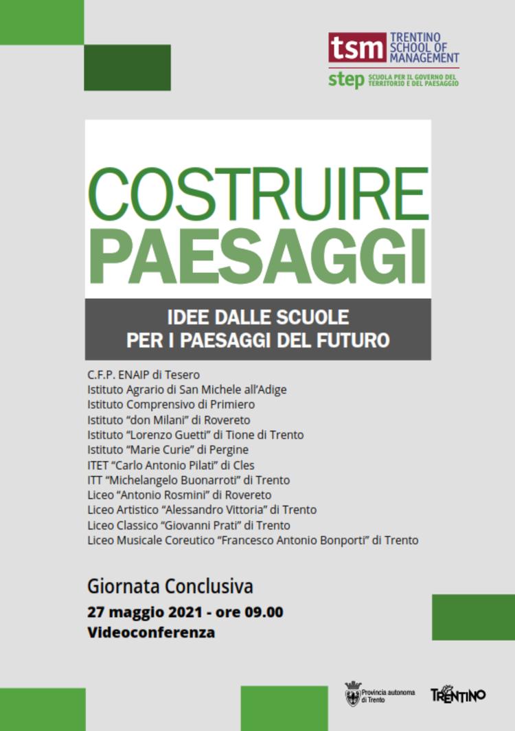 Costruire paesaggi: la giornata conclusiva - edizione 2020/20217