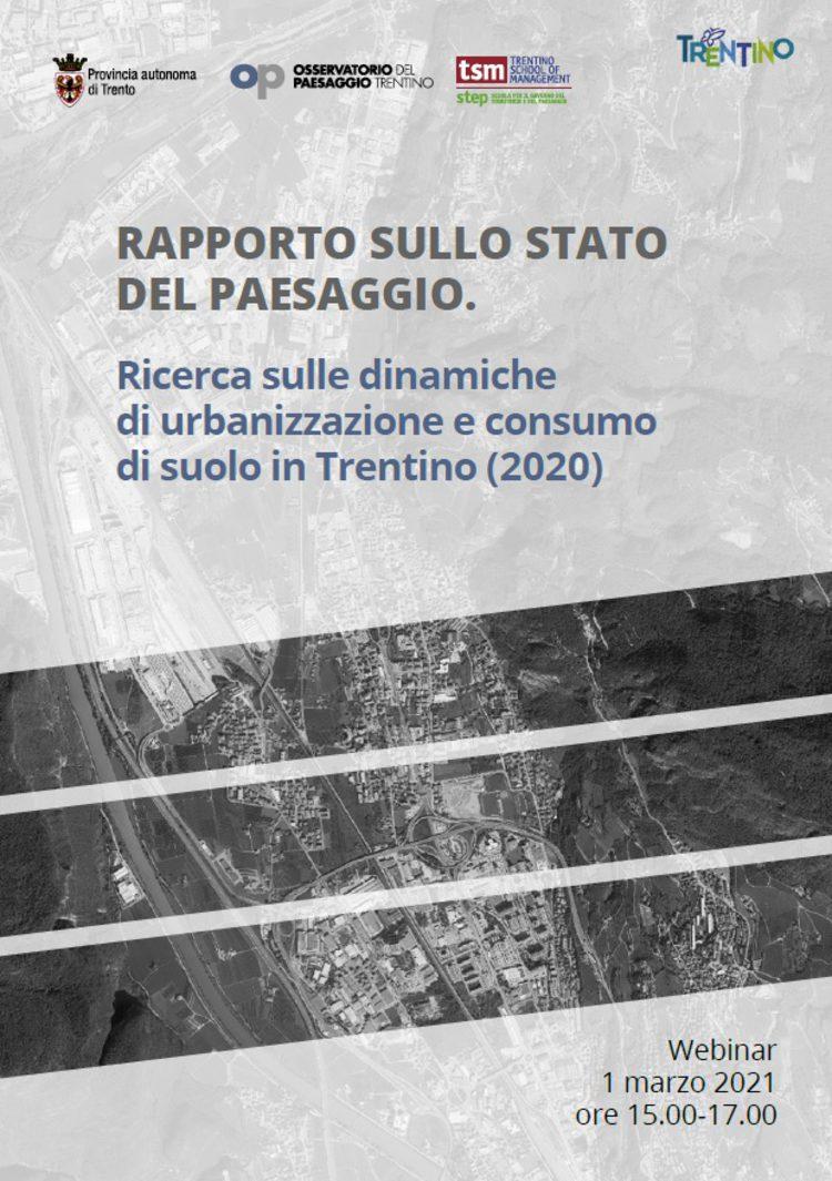 Dinamiche di urbanizzazione e consumo di suolo in Trentino