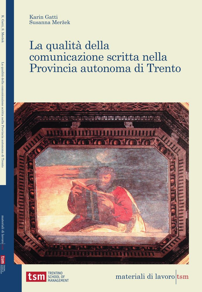 La qualità della comunicazione scritta nella Provincia autonoma di Trento