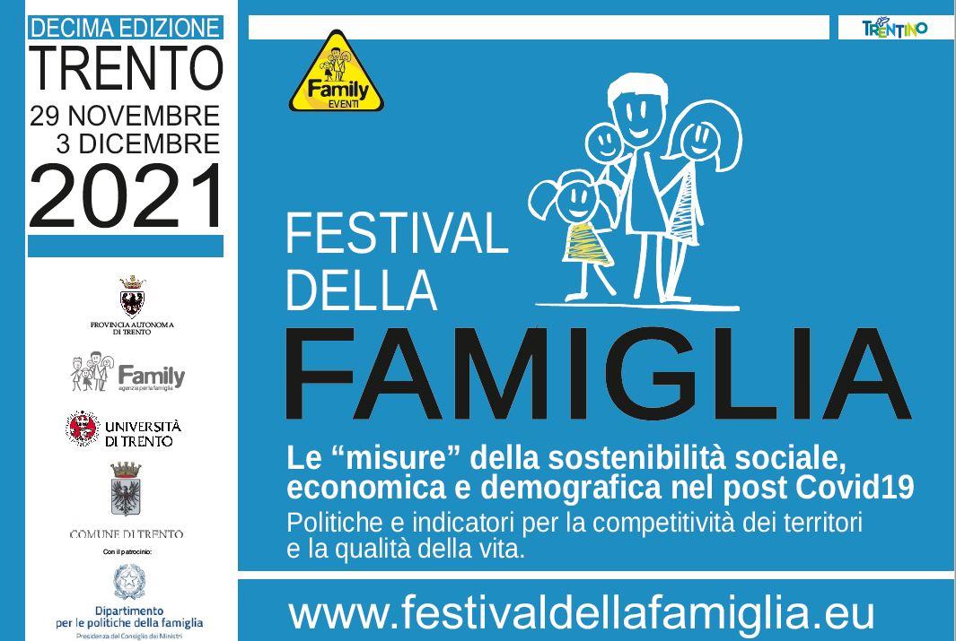 """Festival della famiglia 2021 - Le """"misure"""" della sostenibilità sociale, economica e demografica nel post Covid19."""