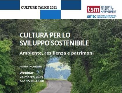 DIALOGHI SULLA CULTURA - CULTURE TALKS<br />Ambiente, resilienza e patrimoni