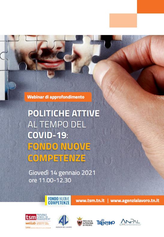 Politiche attive al tempo del COVID-19: il fondo nuove competenze