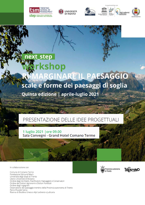 next_step. Ri-marginare il paesaggio - Scale e forme dei paesaggi di soglia | Presentazione delle idee progettuali